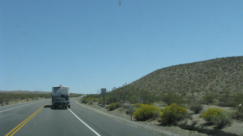 Highway 395 tuns into a 6% grade near Ridgecrest.