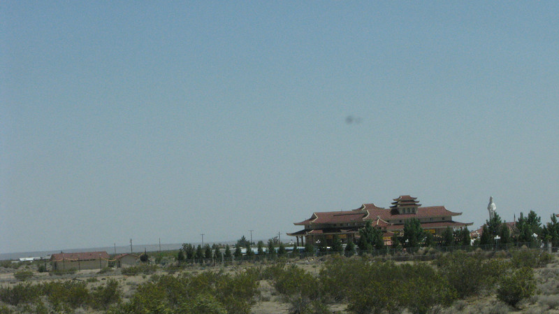 This was new, a Buddhist Temple just off the 395.