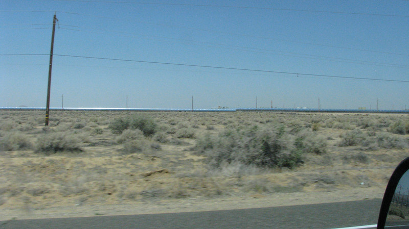 A solar generating plant was seen on Hiway 395 north of Adelanto.