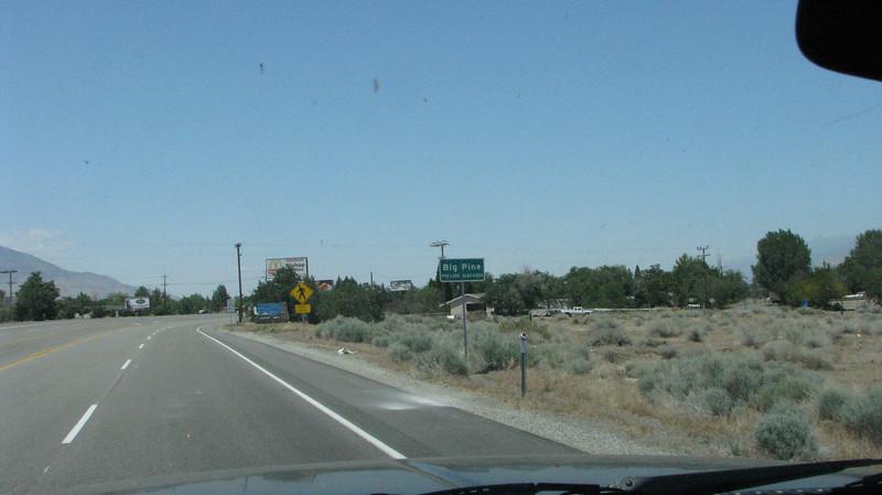 Big Pine ahead.