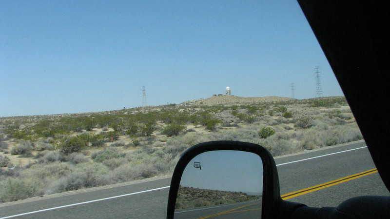Near Red Mountain several radar towers were seen.