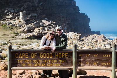 Joyce and Steve at the Cape of Good Hope