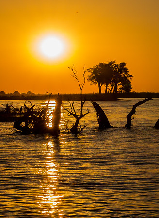 Sunset on the Chobe River