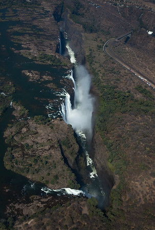 The Falls and the Bridge from the Air