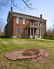 The Anderson Mansion was shot full of holes during the Battle of Lexington, Missouri