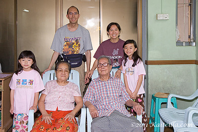 Family and friends in Yangon