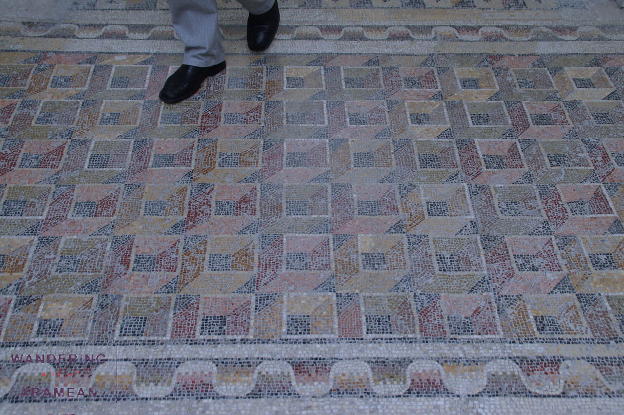 Many of the mosaics were still on the floors