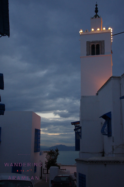 Sun going down in Sidi bou Said