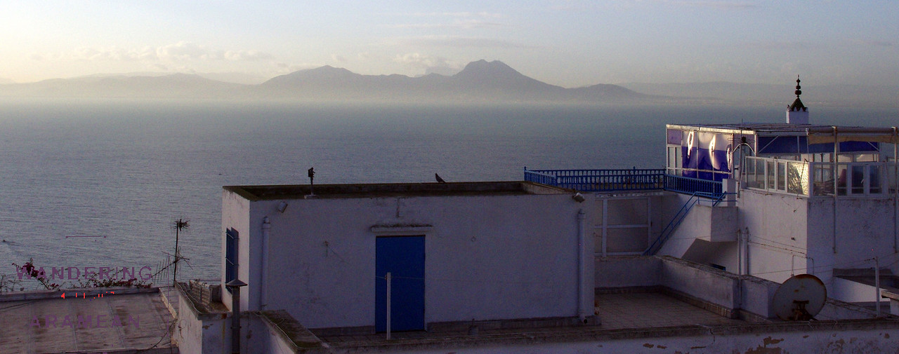 Looking out at the Mediterranean Sea from out hotel in Sidi bou Said