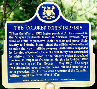 A plaque honoring Black troops who fought with the British against the Amerians