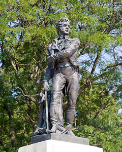 Statue of Oliver Hazard Perry in front of the State House