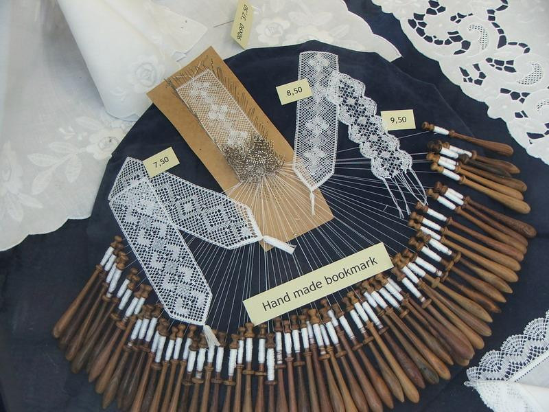 Here we can see the lacemakers craft.