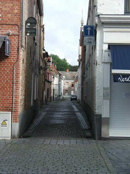 I love investigating old, narrow streets.