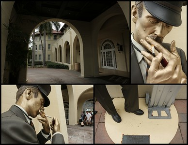 """Taking a Break"" - a bronze sculpture by Seward Johnson"