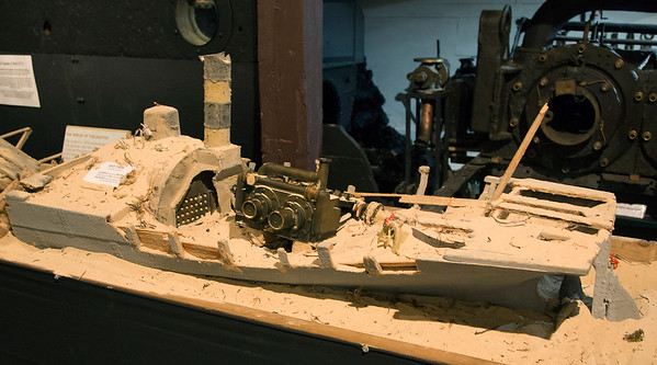 Now we're in the Shipwreck Museum:  model of the wreck of the Xantho.