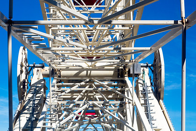 The main axle of the Ferris Wheel.