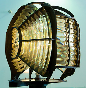 The Cape Leveque Fresnel lantern -- an odd non-standard Fresnel arrangement.