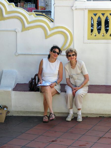 Aliza and Marian at Kampung Hulu Mosque