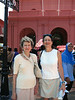 Marian and Aliza at Christ Church Melaka