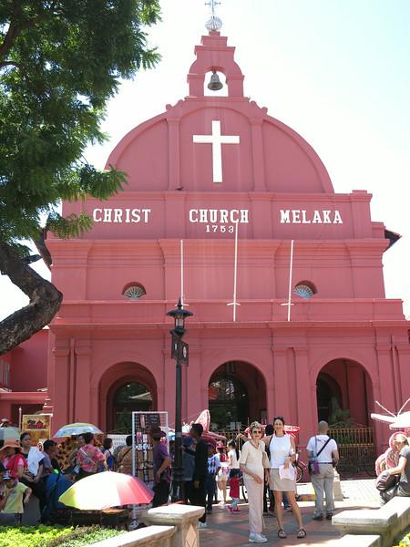 Marian and Aliza at Christ Church Melaka
