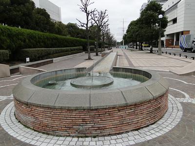 Walking to the battleship Mikasa in Yokosuka