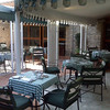 breakfast area outside near pool