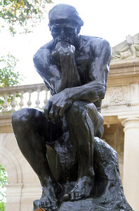 Rodin's The Thinker.  Heroic outdoor version