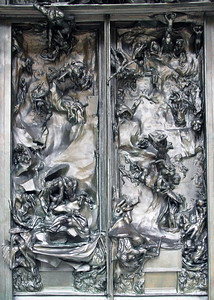 Central panels of Rodin's The Gates of Hell