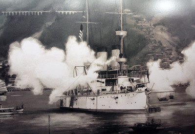 Wall photo of the Olympia in action