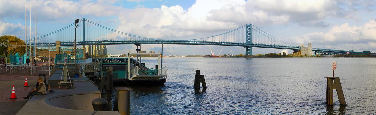 Benjamin Franklin Bridge over the Delaware River