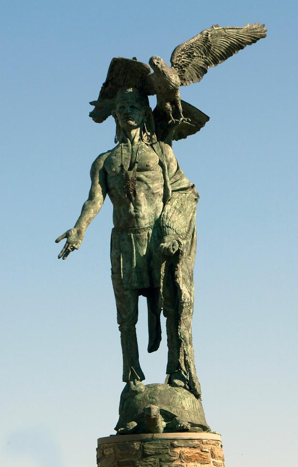 Statue celebrating Native American