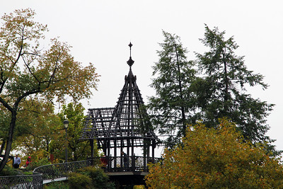 A gazebo at the Fairmount Waterworks