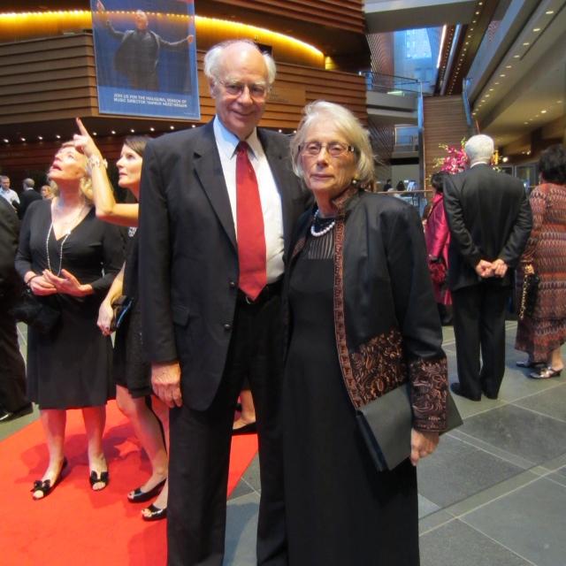 John and Carol at the reception (Photo by Andrea Sutcliffe)