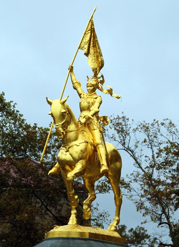 Joan of Arc statue in Philadelphia's museum district