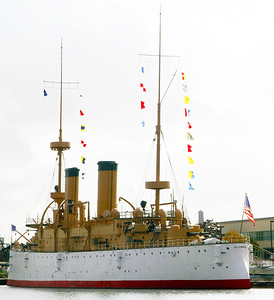 The Battleship Olympia, Dewey's flagship at the Battle of Manilla Bay