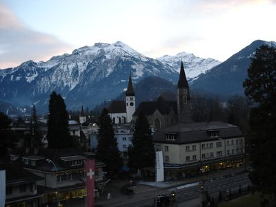 The view from our window in Interlaken
