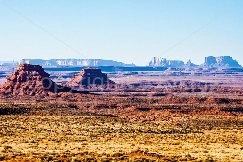 Monument Valley from the Valley of the Gods