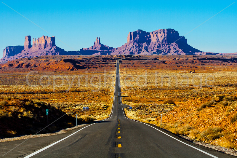 Leaving Monument Valley behind