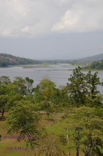One of the many rivers that work to fill Gantun lake, feeder of the Panama Canal