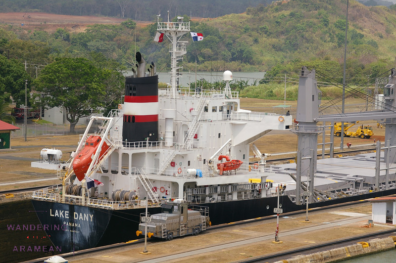 Passing through the second stage of the Miraflores locks
