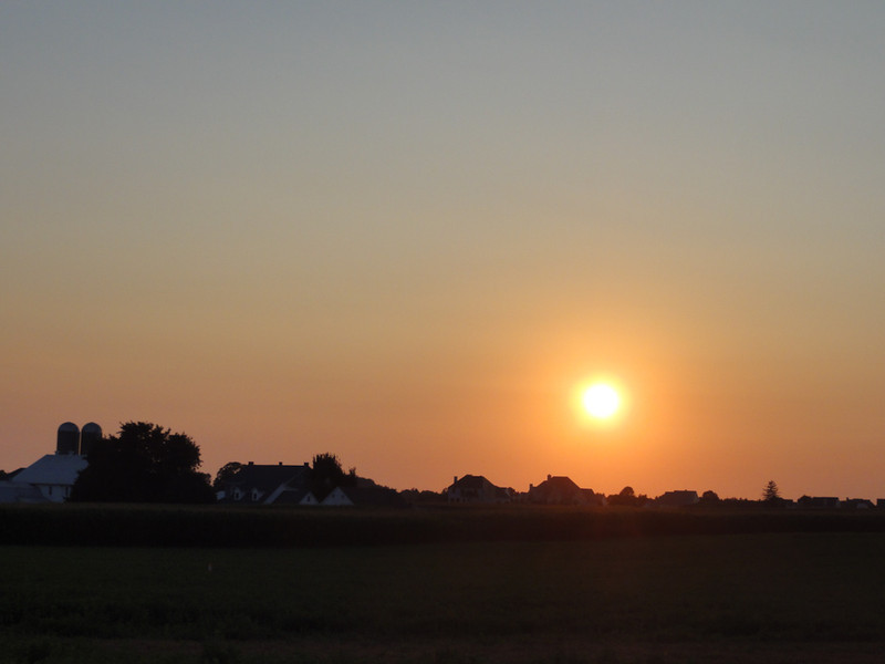 sunset after Chiro's