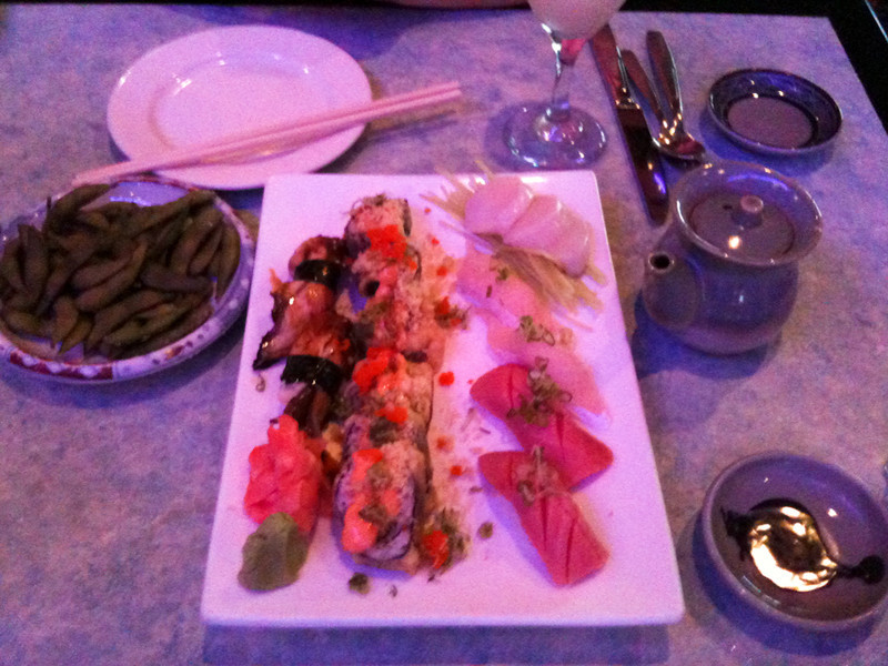 A sushi lunch with Fran at the Blue Pacific Sushi & Grill
