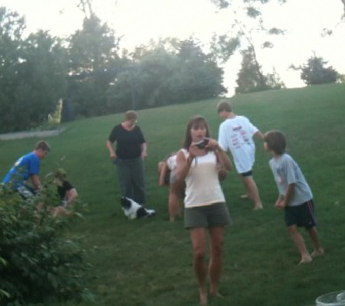 Evening fun with Connie and Emily's families, Wixom, Michigan