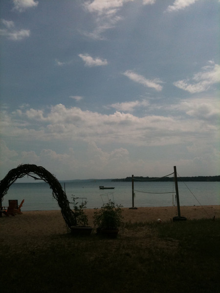 Torch Lake in the evening