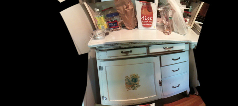 The kitchen hutch @ The Cabin, Big Twin, Michigan