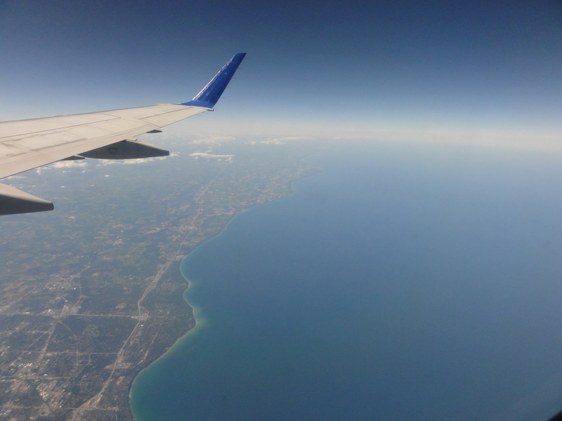 Lake Michigan, Flying from Grand Rapids, Michigan to Denver, Colorado