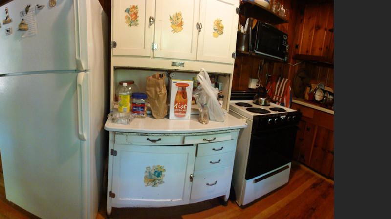 the kitchen hutch @ The Cabin, Michigan