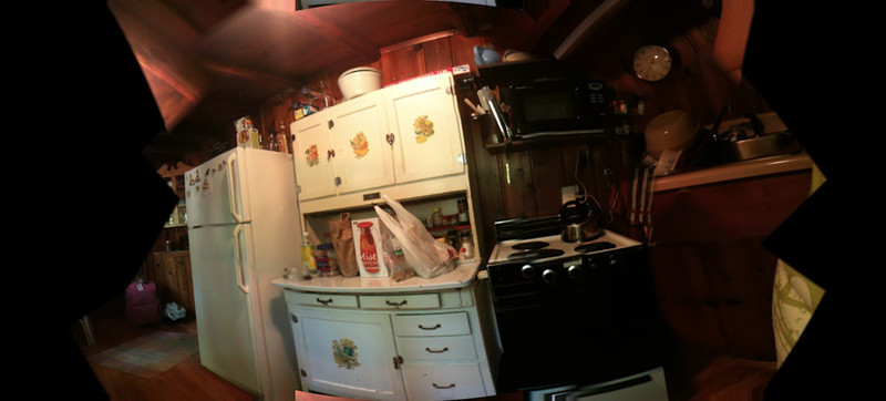 The kitchen hutch @ The Cabin, Big Twin, Michigan