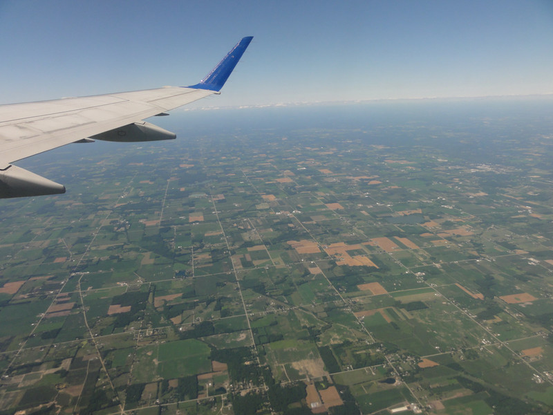 Flying from Grand Rapids, Michigan to Denver, Colorado