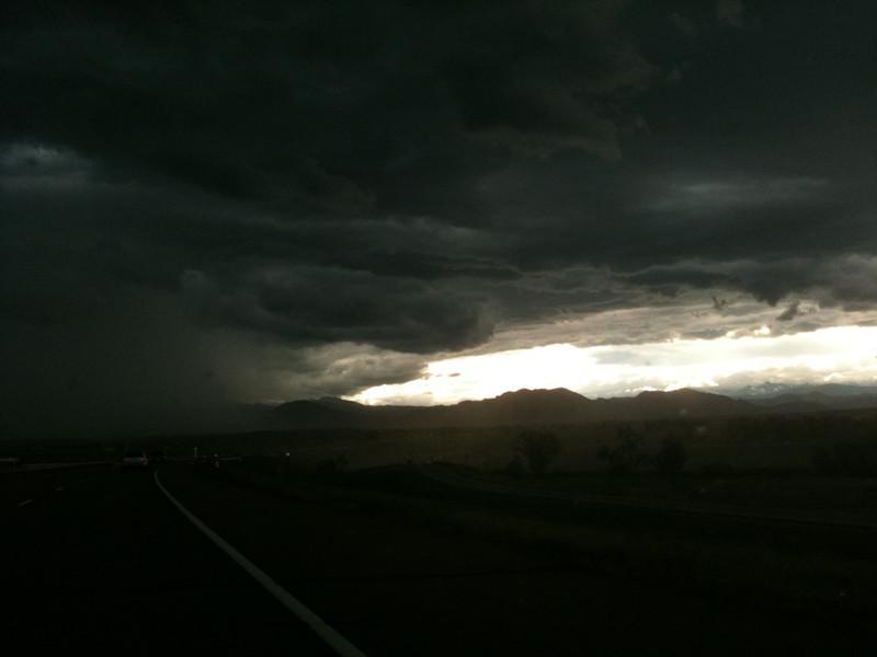 Storm off to the south, near Denver, Colorado